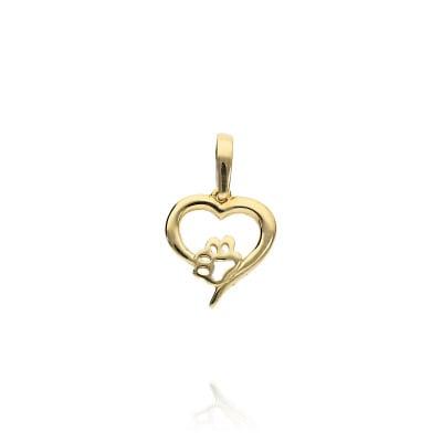 Przywieszka złota- serce