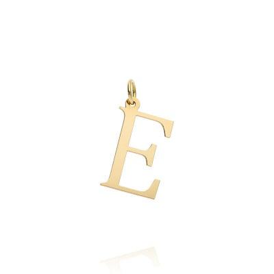Przywieszka złota literka E