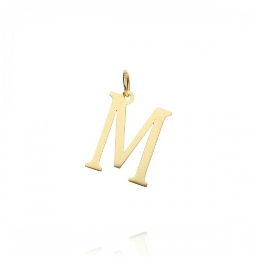 Przywieszka złota literka M