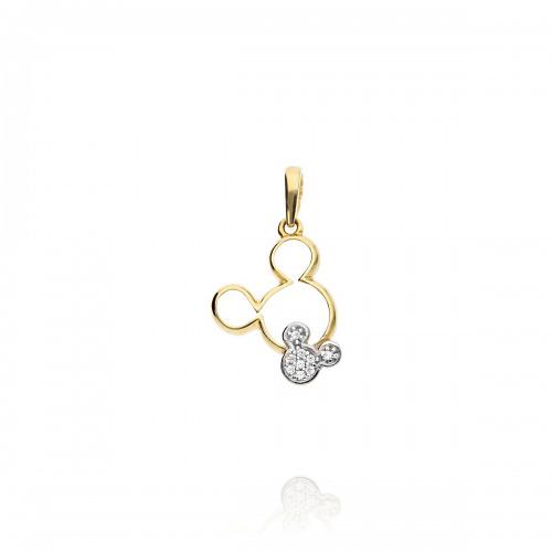 Przywieszka złota myszka Mickey