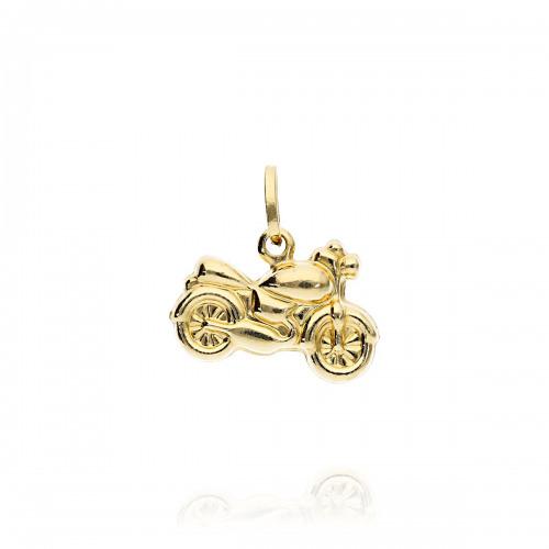 Przywieszka złota motocykl