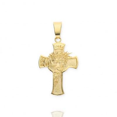 Przywieszka złota- krzyżyk