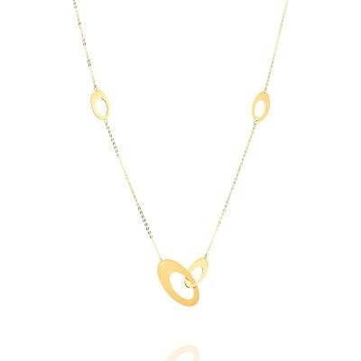 Naszyjnik z żółtego złota elipsa