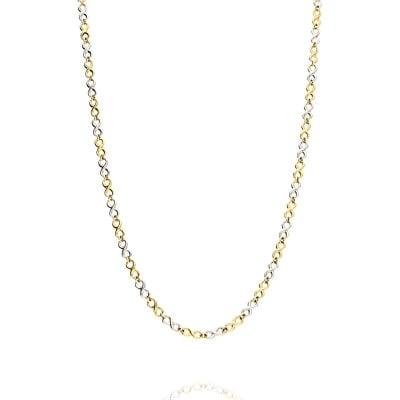 Naszyjnik złoty ze znakami nieskończoności