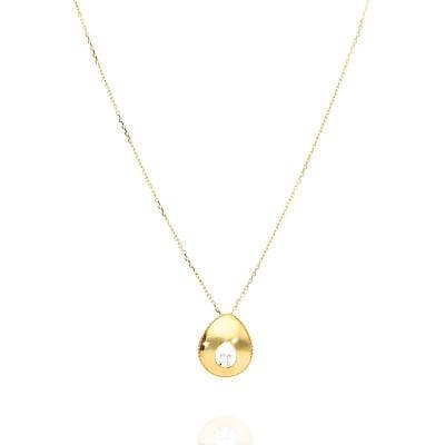 Naszyjnik z żółtego złota z cyrkonią