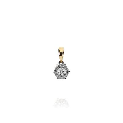 Przywieszka złota z diamentami 0,09 ct Si/H
