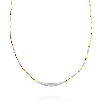 Naszyjnik z żółtego złota 585 z brylantami 0,79 ct
