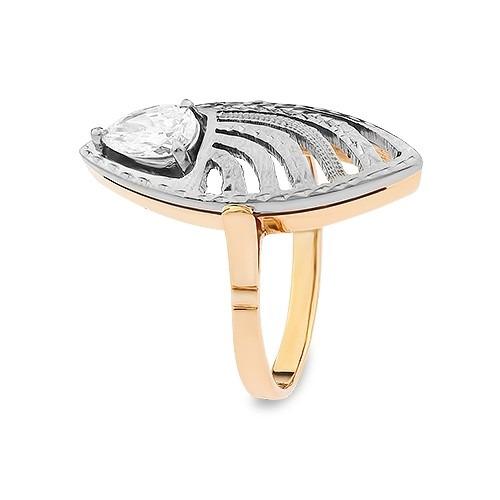 Pierścionek złoty z diamentem 0,60 ct