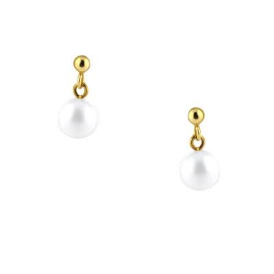 A&A Kolczyki złote z perłami 2,09 g.