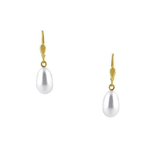 kolczyki złote z perłami