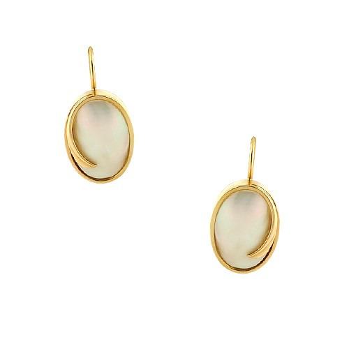 Kolczyki złote z masą perłowa