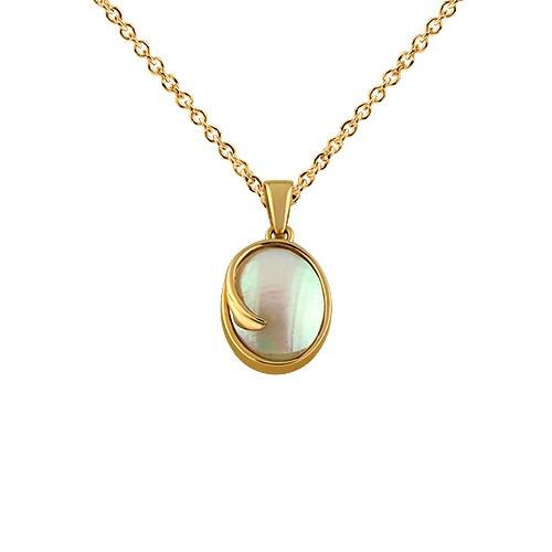 Przywieszka złota z  masą perłową