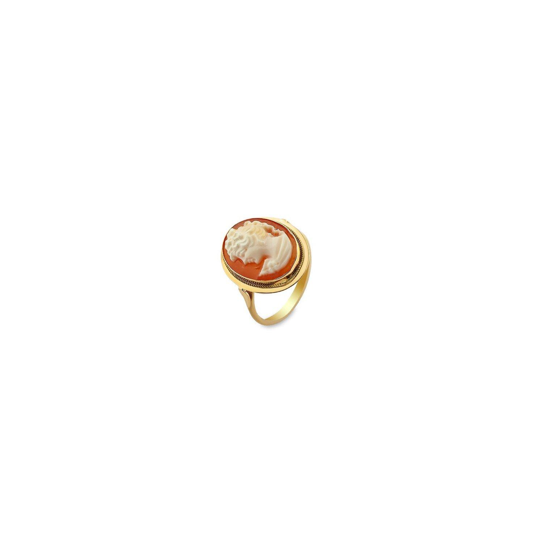Pierścionek złoty 0,585 kamea 2,92 g
