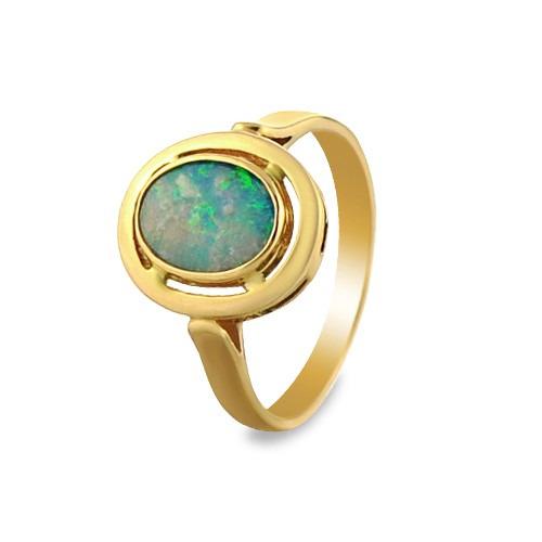 Pierścionek złoty z opalem