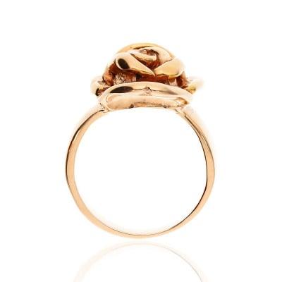 Pierścionek ze złota 585 w kształcie róży