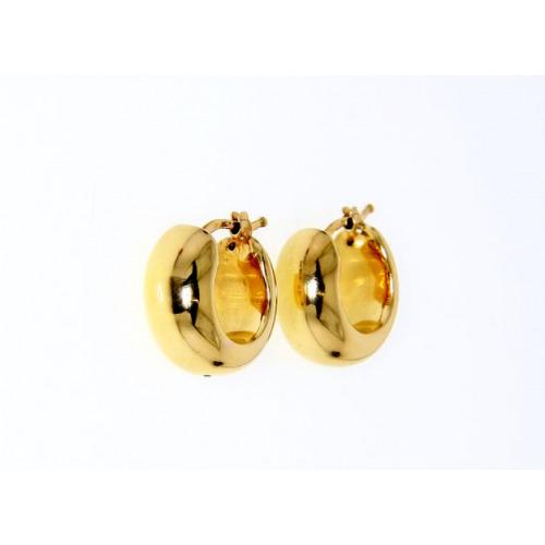 Kolczyki złote szerokie koła