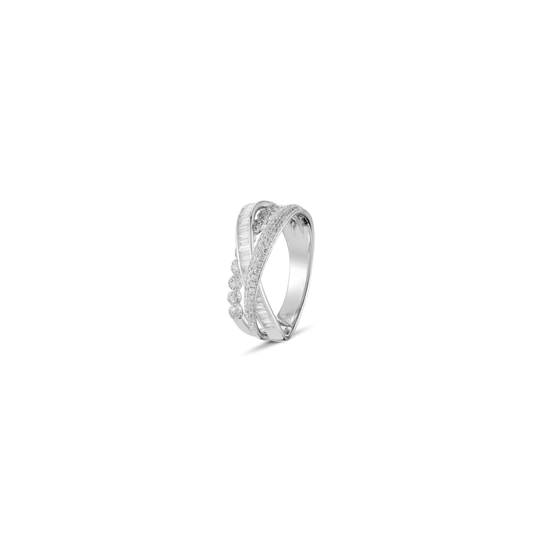 A&A Wyjątkowy pierścionek brylantowy z 3 łukami