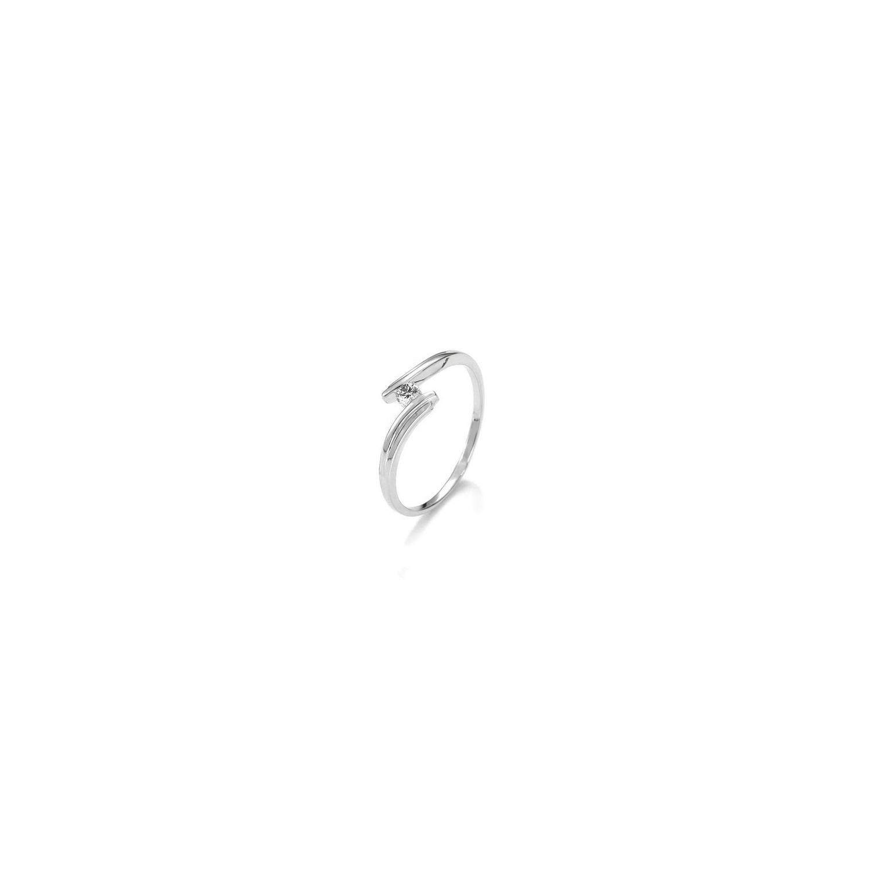 A&A złoty pierścionek z brylantem