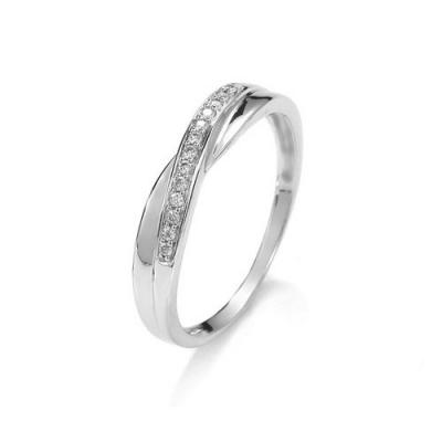 A&A złoty pierścionek z brylantami