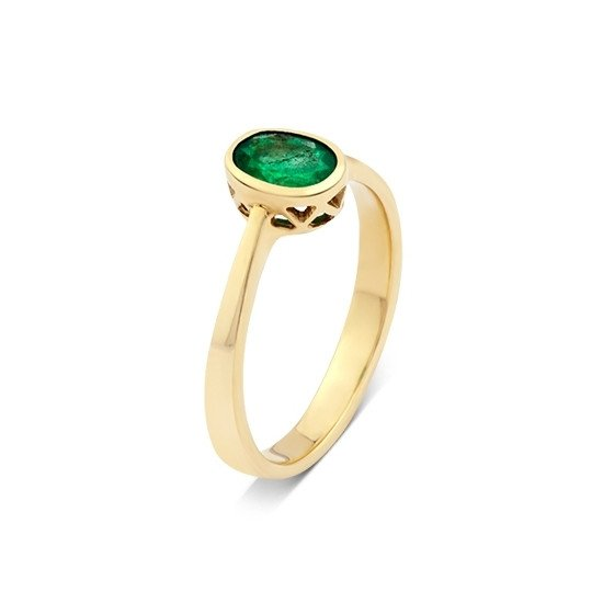 585eeddff55459 A&A złoty pierścionek ze szmaragdem