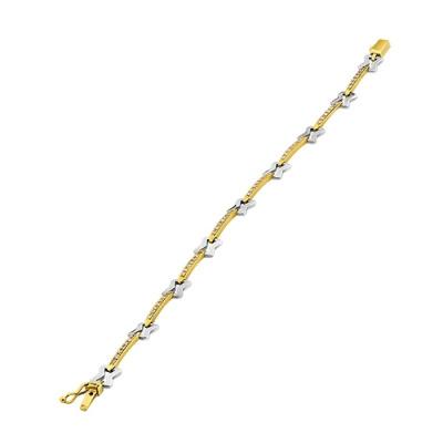 A&A Złota bransoleta z cyrkoniami