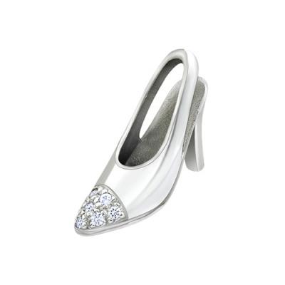 A&A złota zawieszka w kształcie buta z brylantami