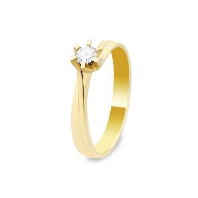 A&A Pierścionek z żółtego złota z brylantem