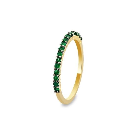 A&A Złoty pierścionek ze szmaragdami