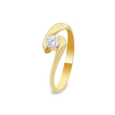 A&A Pierścionek z żółtego i białego złota z brylantem 0,25 kt