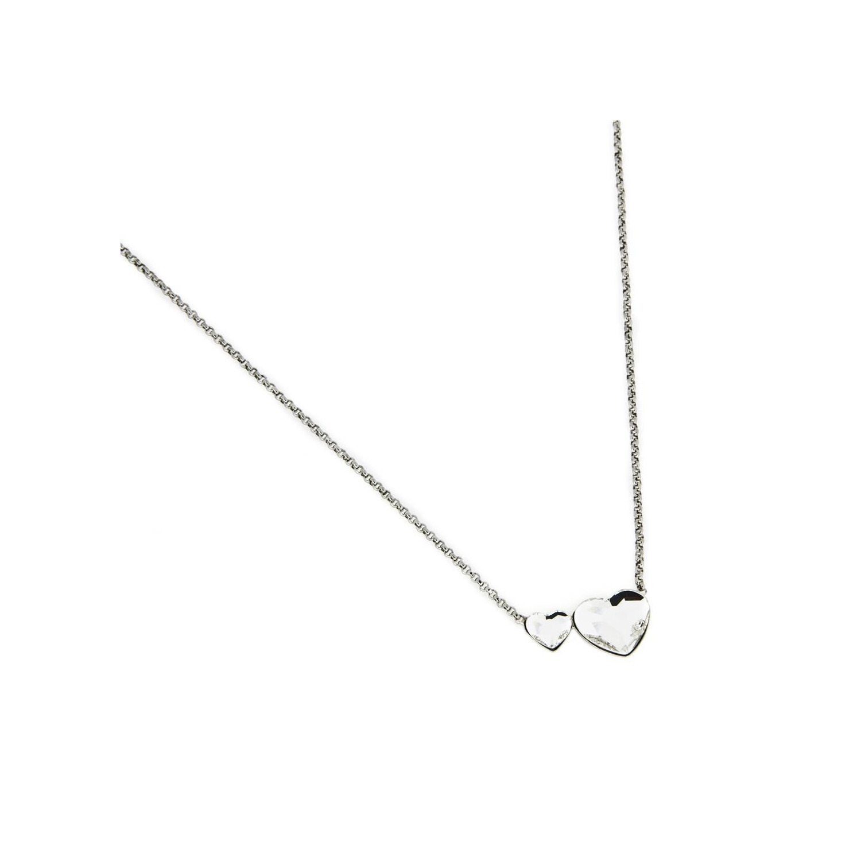 A&A Naszyjnik srebrny z dwoma serduszkami