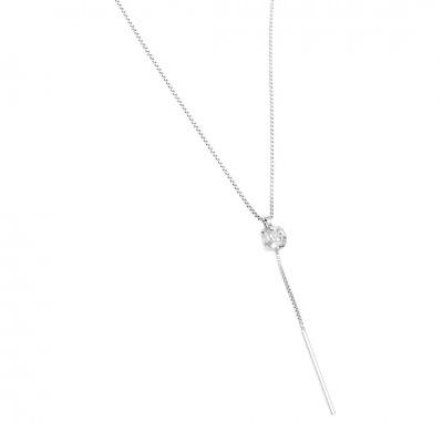 A&A Naszyjnik srebrny z cyrkonią