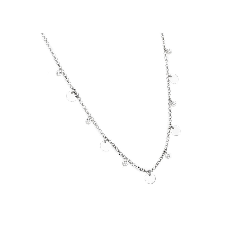 A&A Naszyjnik srebrny z kółeczkami i cyrkoniami