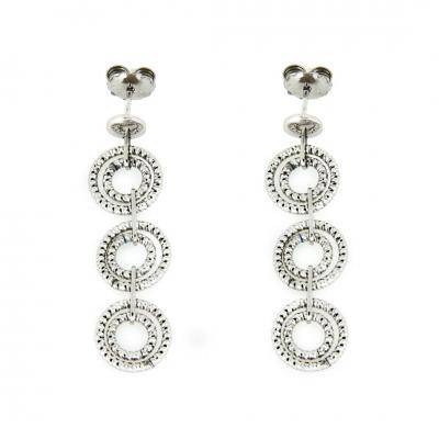 A&A Kolczyki srebrne z podwójnymi kółeczkami