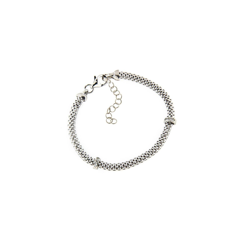 A&A Bransoletka srebrna z elementami z cyrkoni