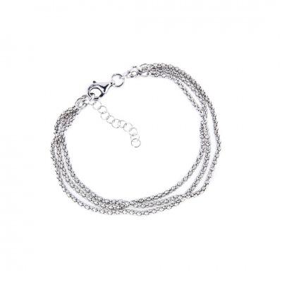 A&A Bransoletka z trzema srebrnymi łańcuszkami