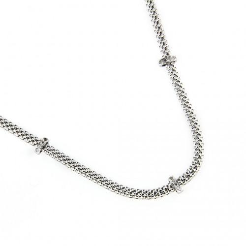 A&A Naszyjnik srebrny z klamrami z cyrkonii
