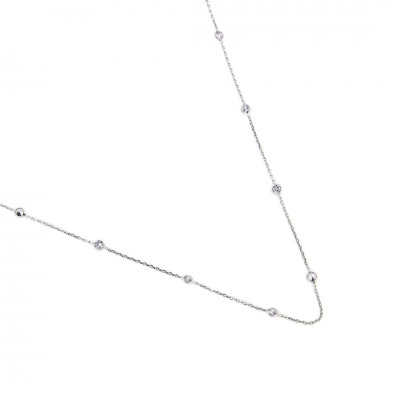 A&A Naszyjnik srebrny ozdobiany cyrkoniami