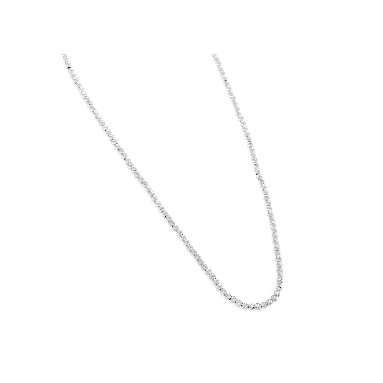 A&A Naszyjnik srebrny z diamentowanymi kuleczkami