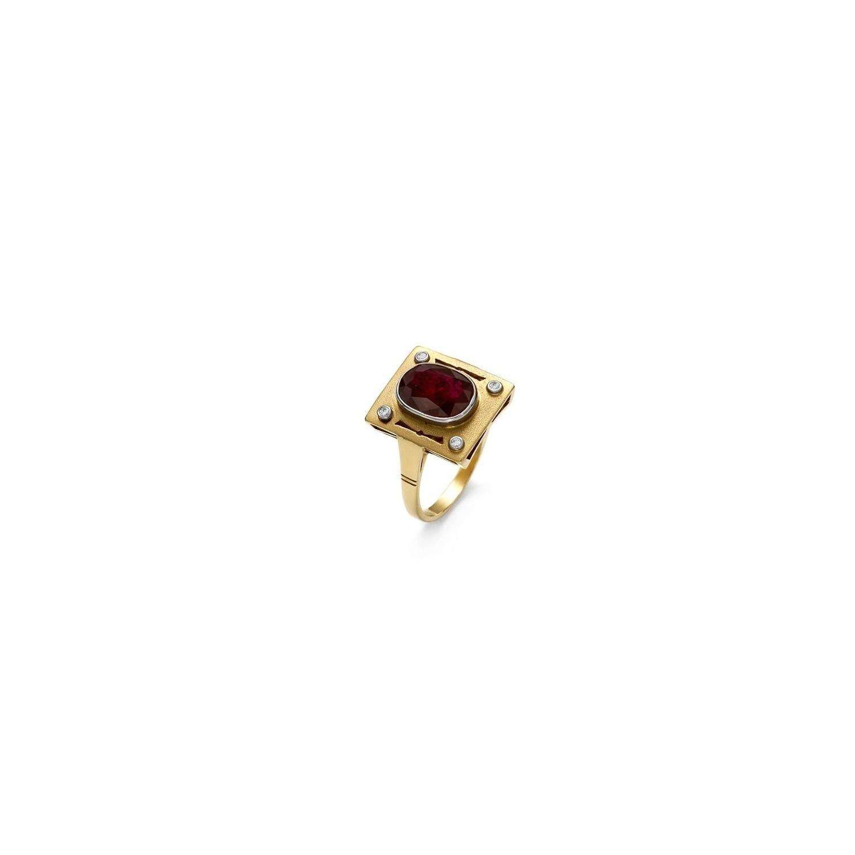 A&A pierścionek z rubinem 3,14 ct i brylantami 0,07 ct