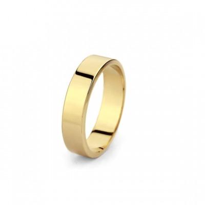 Obrączka ślubna płaska ze złota 585 o szerokości 4mm