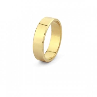 Obrączka ślubna z soczewką ze złota 585