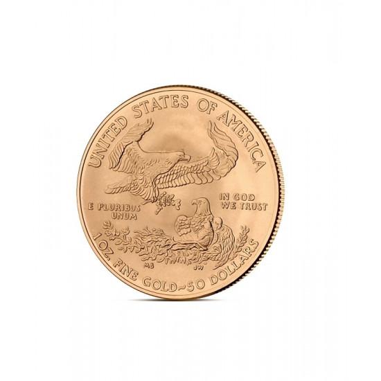 AMERYKAŃSKI ORZEŁ 1 OZ - Złota moneta 1 uncja Amerykański Orzeł - 50 USD