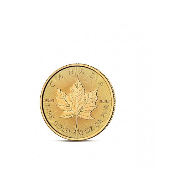 LIŚĆ KLONU 1/2 OZ - Złota moneta 1/2 uncji - Kanadyjski Liść Klonu 20 CAD