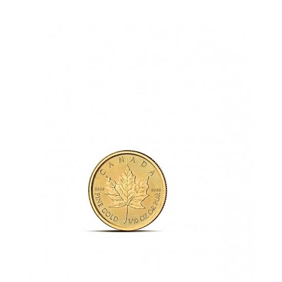 LIŚĆ KLONU 1/10 OZ - Złota moneta 1/10 uncji - Kanadyjski Liść Klonu 5 CAD