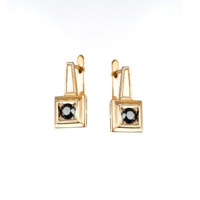 A&A Kolczyki ze złota z czarnymi brylantami 0,60 CT