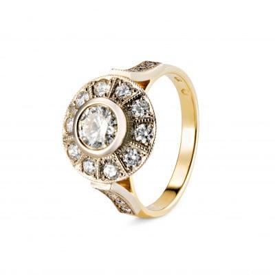 A&A Złoty pierścionek z brylantami 1,27 CT