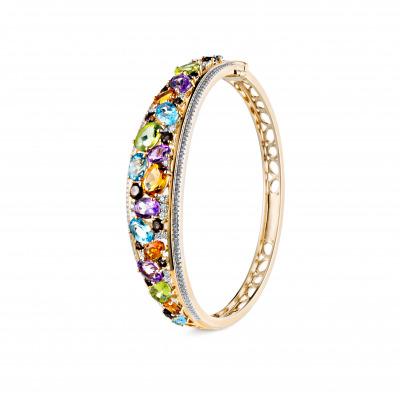 A&A Bransoletka z diamentami i kolorowymi naturalnymi kamieniami