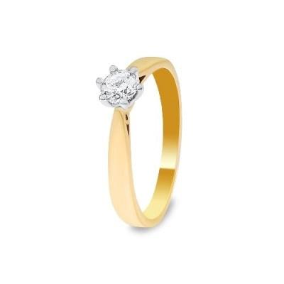 A&A Złoty pierścionek z brylantem 0,16 ct