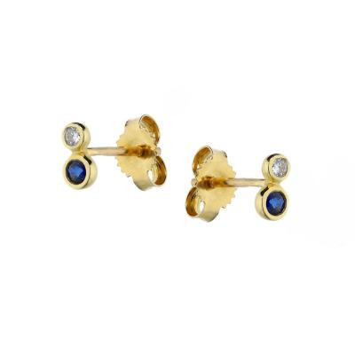 A&A kolczyki ze złota z szafirami i brylantami