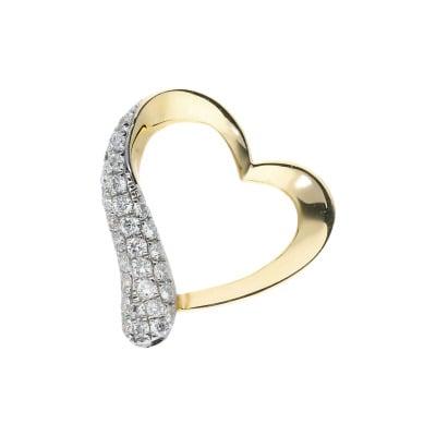 Przywieszka ze złota z brylantami w kształcie serca